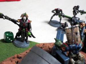 I always assume the Necron Lords are cackling hideously, monotonally, continuously throughout every game.