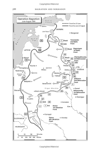 Map from the text of a late war overarching Soviet push.