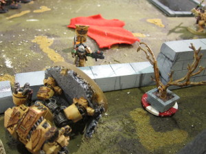 Huh... I guess he's really good with that axe?  Sergeant Harmon contests the Discord flank objective!