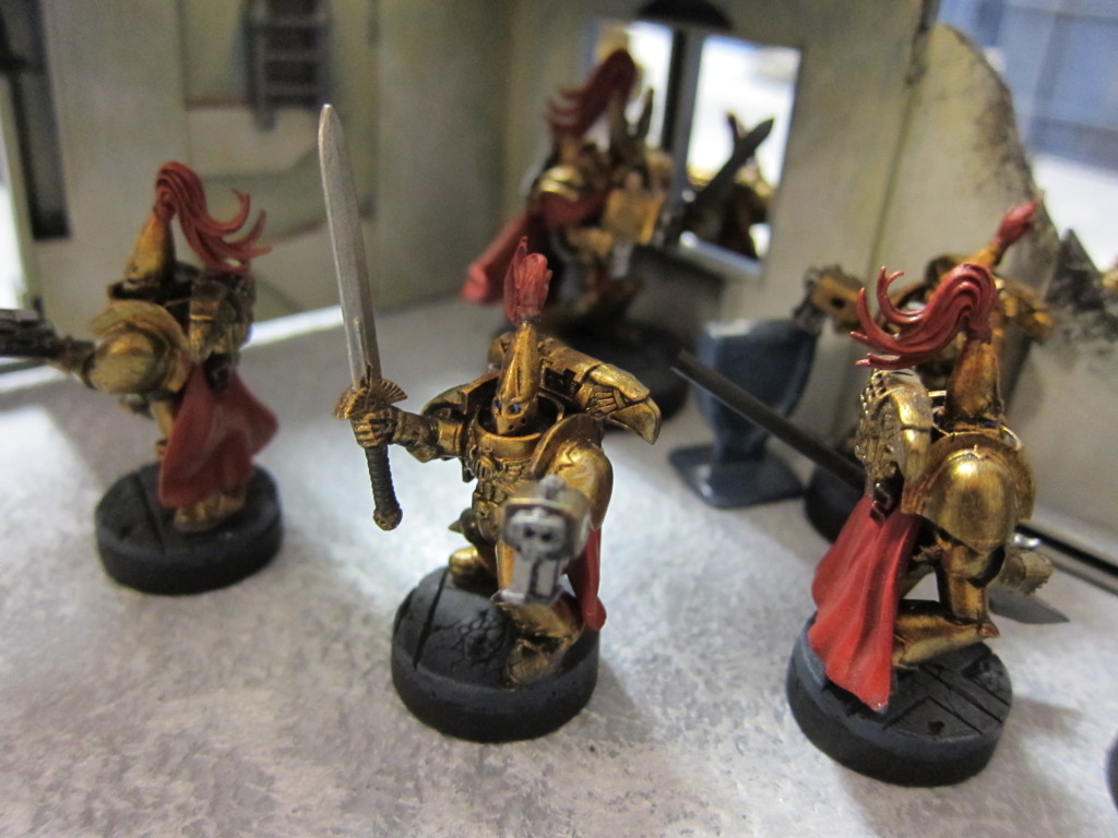 Custodes ready for action.