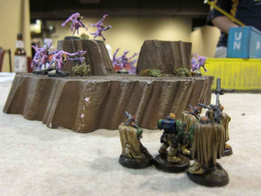Scouts hold down the left flank.