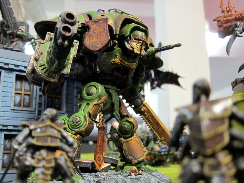 The Imperial Knight Greenheart walks among the horde.