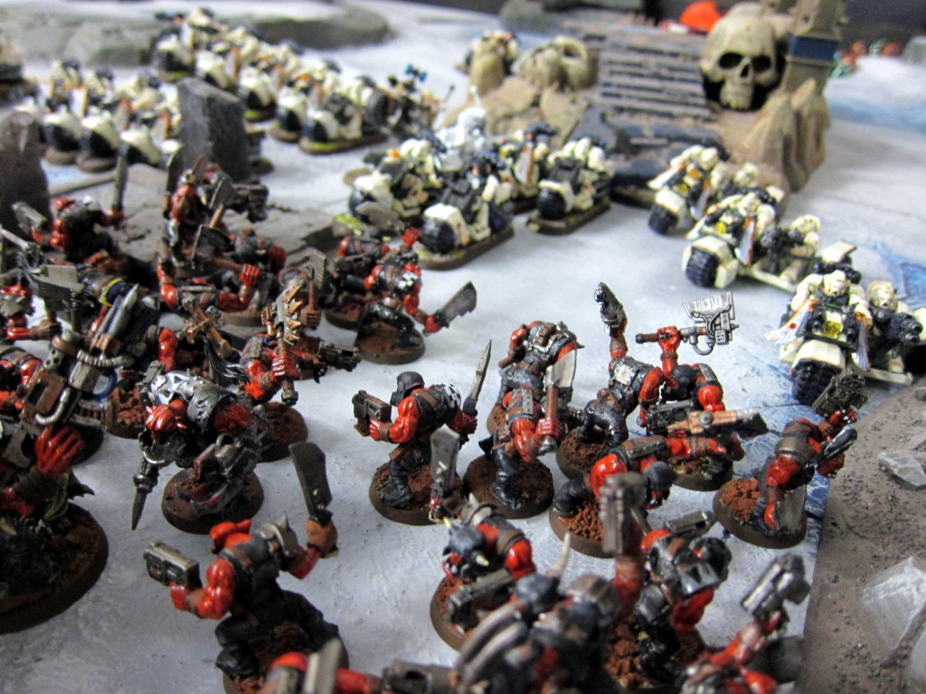 Orks and White Scars engage in a frenzy of speed and close combat.
