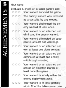 Warlord achievements in The Tournament of Blood.