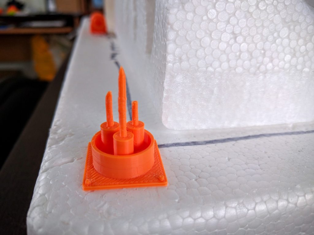The printed antenna array.