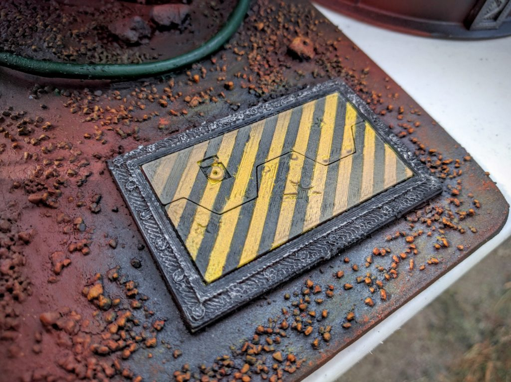 The end result; this is a hatch I would definitely understand to be hazardous.