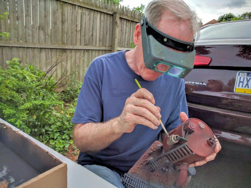 Tom doing metallic mechanicals.