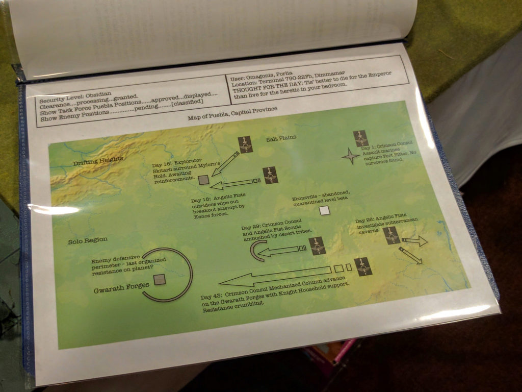 Booklet presenting the history of the campaign bringing one team's armies together.