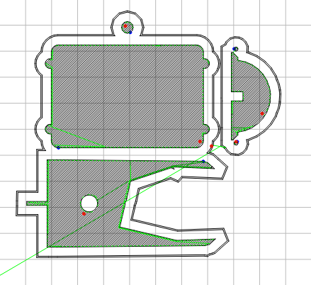 Somewhat degenerate first layer; the bottom shape should be the hull front half.
